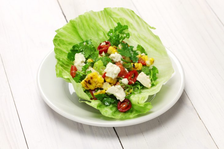 vegetarian lettuce wraps with tofu