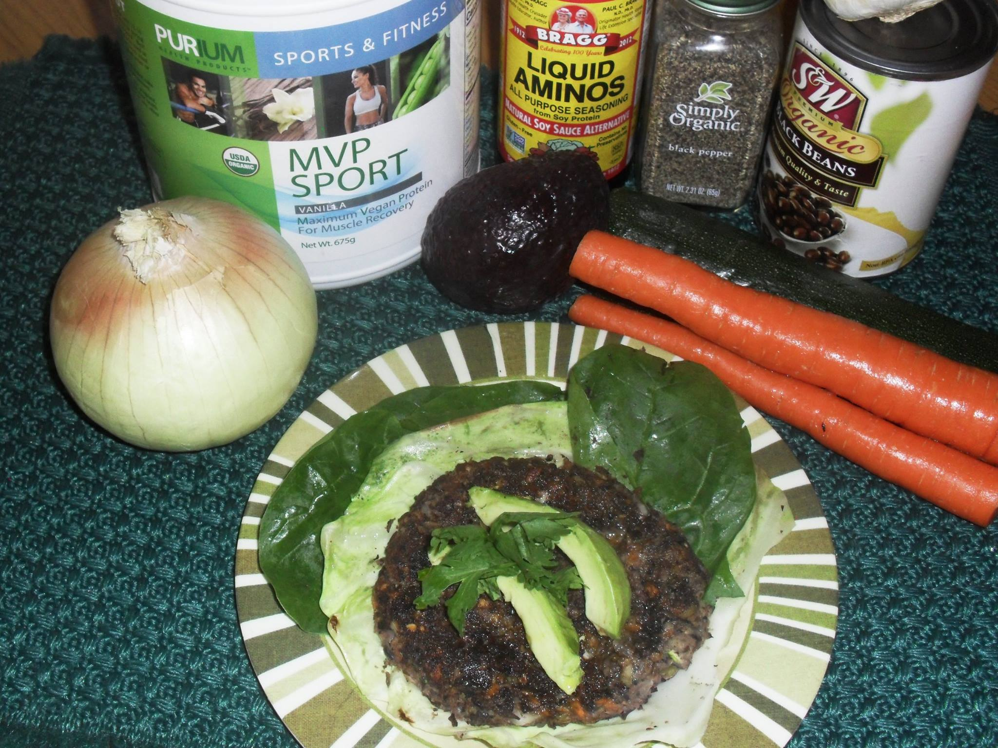 Flex Meal: Black Bean Burger