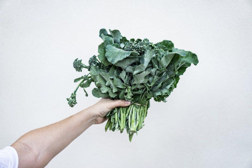 Dark, leafy green for acid reflux